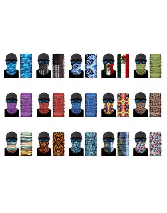 Мултифункционален шал бандана за глава в изчистен черен цвят, Бандани шал - Bandana.bg