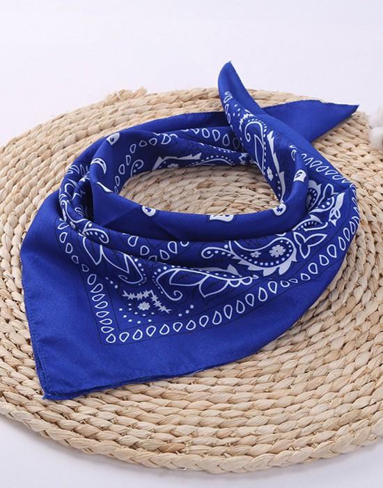 Бандана кърпа за глава Bandana в син цвят, Бандани кърпи - Bandana.bg