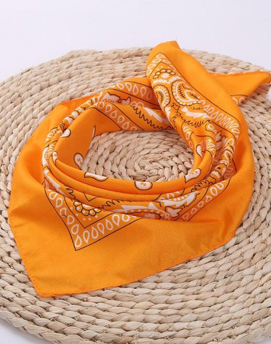 Бандана кърпа за глава Bandana в тъмножълт цвят, Бандани кърпи - Bandana.bg