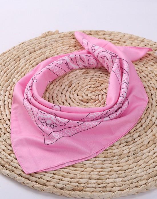 Бандана кърпа за глава Bandana в розов цвят, Бандани кърпи - Bandana.bg