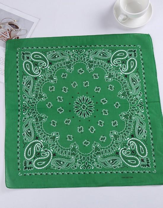 Бандана кърпа за глава New Bandana в зелен цвят, Бандани кърпи - Bandana.bg