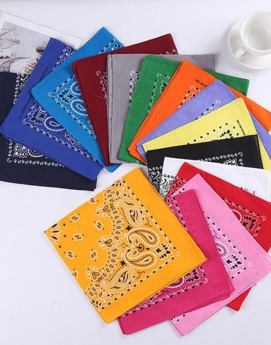 Бандана кърпа за глава New Bandana в сив цвят, Бандани кърпи - Bandana.bg