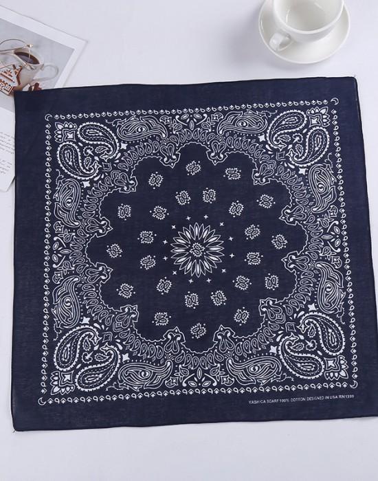 Бандана кърпа за глава New Bandana в тъмносин цвят, Бандани кърпи - Bandana.bg