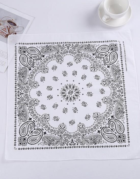 Бандана кърпа за глава New Bandana в бял цвят, Бандани кърпи - Bandana.bg