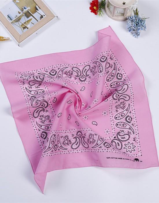 Бандана кърпа за глава New Bandana в розов цвят, Бандани кърпи - Bandana.bg