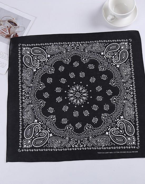 Бандана кърпа за глава New Bandana в черен цвят, Бандани кърпи - Bandana.bg