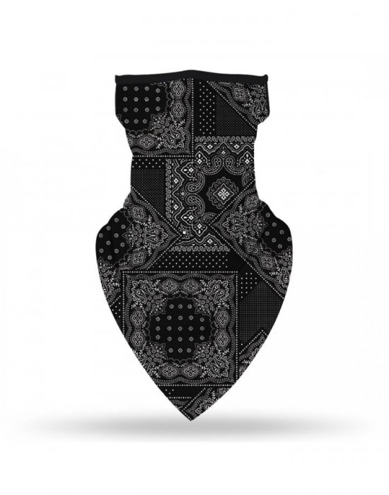 Бандана маска с уши в черно Bandana Bestseller Design, Бандани маски с уши - Bandana.bg