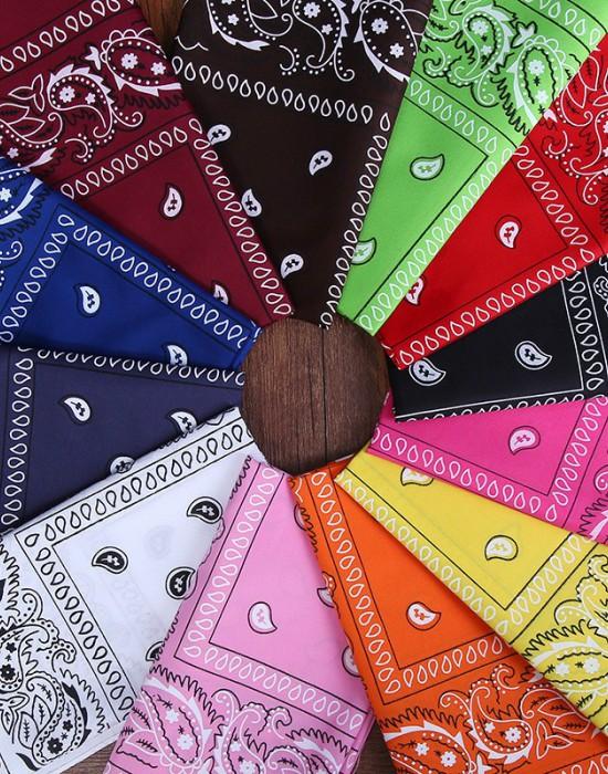 Бандана кърпа за глава Bandana в червен цвят, Бандани кърпи - Bandana.bg