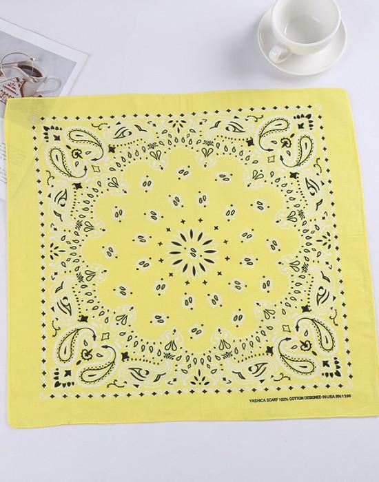 Бандана кърпа за глава New Bandana в жълт цвят, Бандани кърпи - Bandana.bg