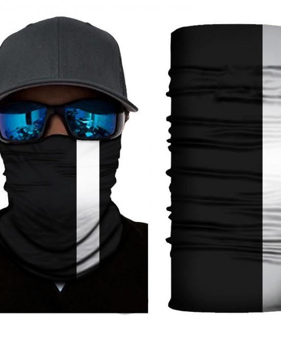 Мултифункционален шал бандана за глава в черен цвят, Бандани шал - Bandana.bg