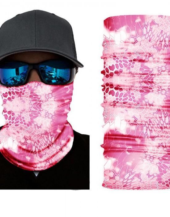 Мултифункционален шал бандана за глава в розов цвят, Бандани шал - Bandana.bg