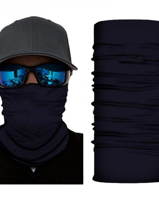 Мултифункционален шал бандана за глава в изчистен тъмносин цвят, Бандани шал - Bandana.bg