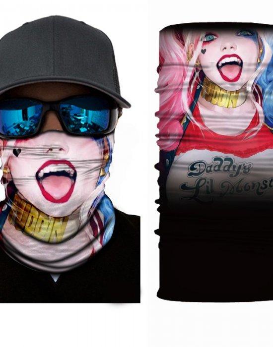Мултифункционален шал бандана Harley Quinn Харли Куин, Бандани шал - Bandana.bg