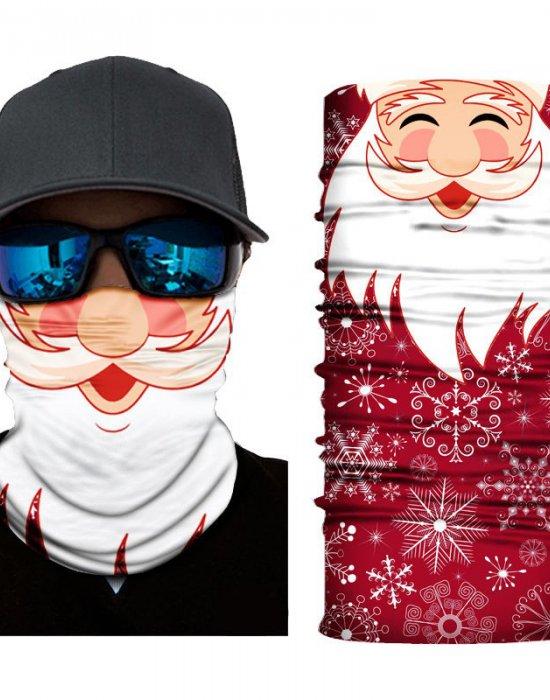 Мултифункционален шал бандана Santa Claus, Бандани шал - Bandana.bg
