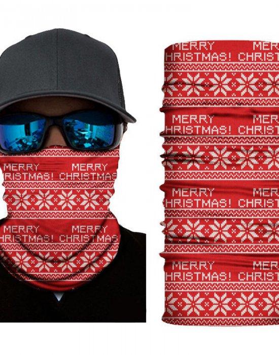 Мултифункционален шал бандана Merry Christmas, Бандани шал - Bandana.bg
