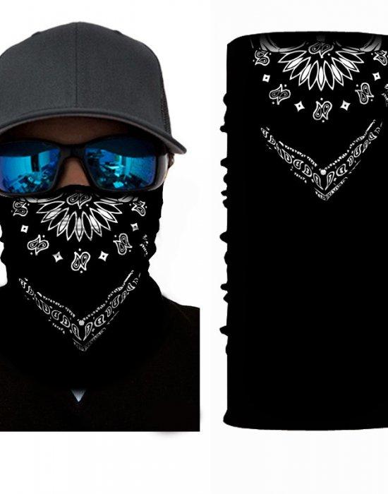 Мултифункционален шал бандана черна Bandana Design, Бандани шал - Bandana.bg