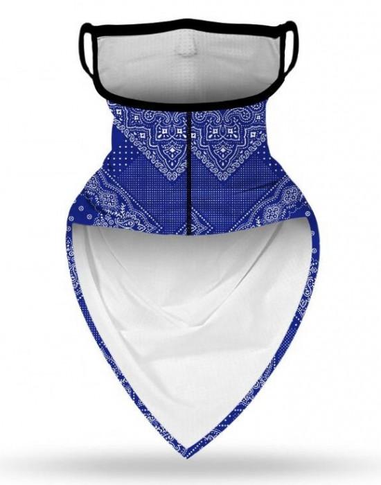Бандана маска с уши в изчистен сив цвят, Бандани маски с уши - Bandana.bg