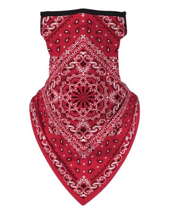 Бандана маска с уши в червено MOB, Бандани маски с уши - Bandana.bg