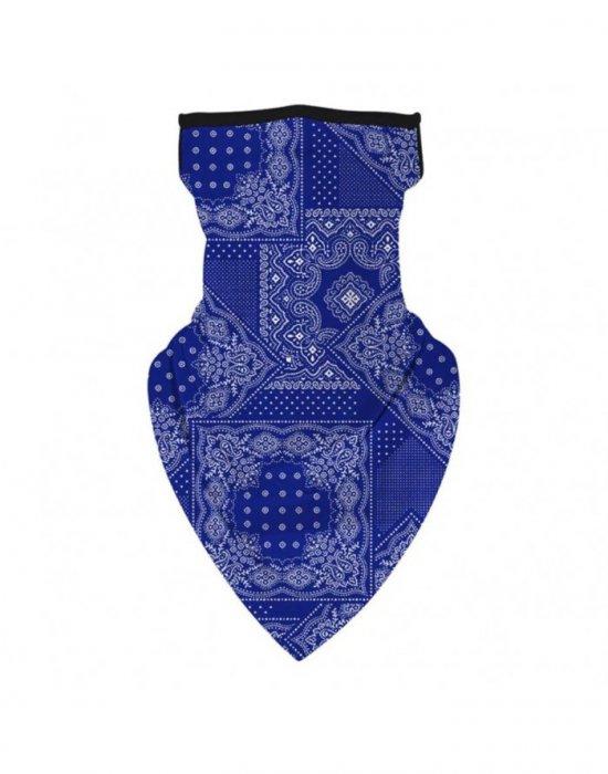 Бандана маска с уши в синьо Bandana Design, Бандани маски с уши - Bandana.bg