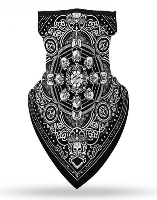 Бандана маска с уши черепи в черно Skulls, Бандани маски с уши - Bandana.bg