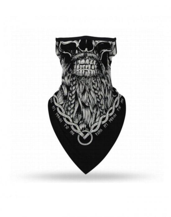 Бандана маска с уши в черно Bandana Fear, Бандани маски с уши - Bandana.bg