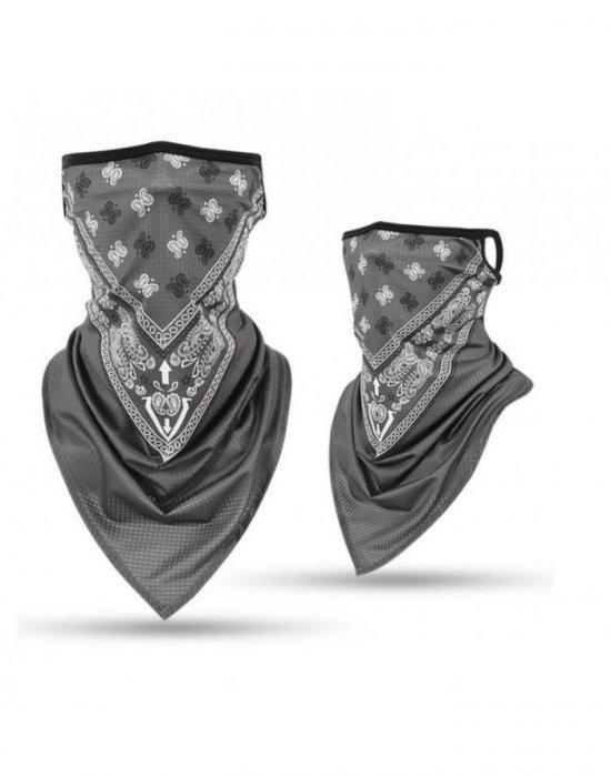 Бандана маска с уши в сив цвят Band Bestseller, Бандани маски с уши - Bandana.bg