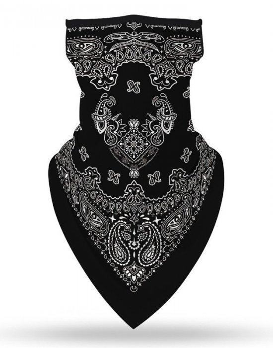 Бандана маска с уши в черно Design Banda, Бандани маски с уши - Bandana.bg