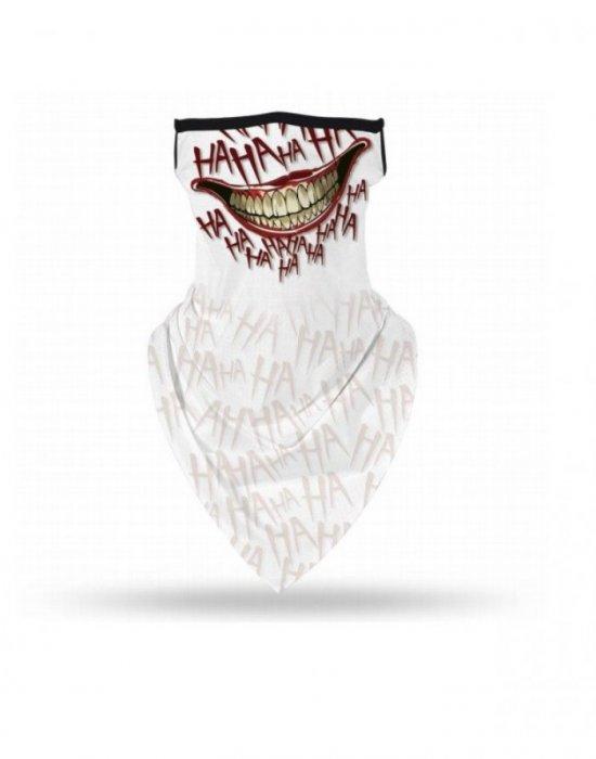 Бандана маска с уши в бял цвят Bandana Haha, Бандани маски с уши - Bandana.bg