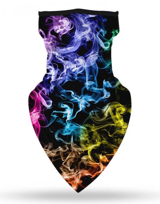 Бандана маска с уши в цветни пушаци, Бандани маски с уши - Bandana.bg