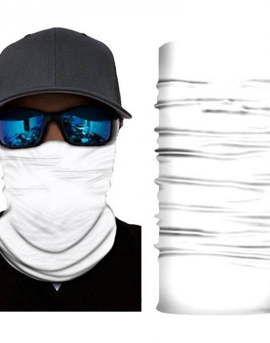 Мултифункционален шал бандана за глава изчистен бял цвят, Бандани шал - Bandana.bg