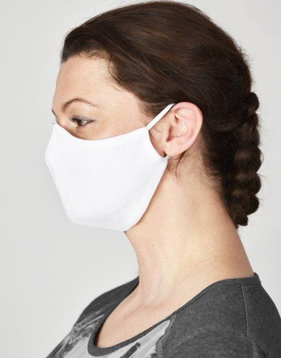Защитна маска за лице в бял цвят, Бандани маски с уши - Bandana.bg