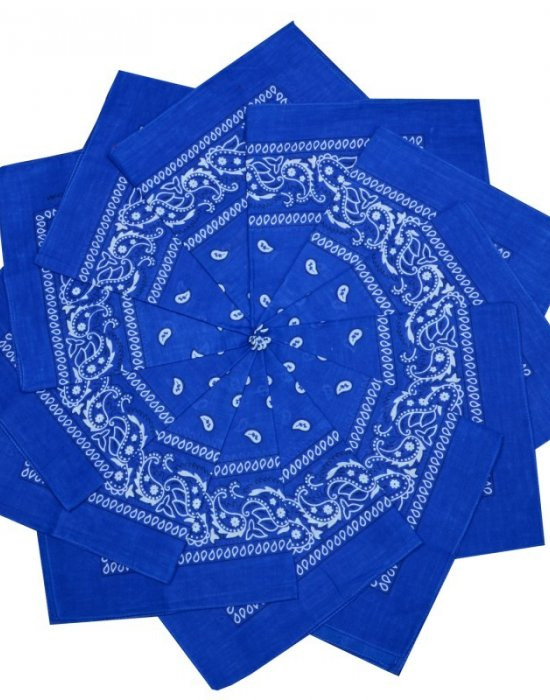Бандана кърпа за глава Bandana в кралско син цвят, Бандани кърпи - Bandana.bg