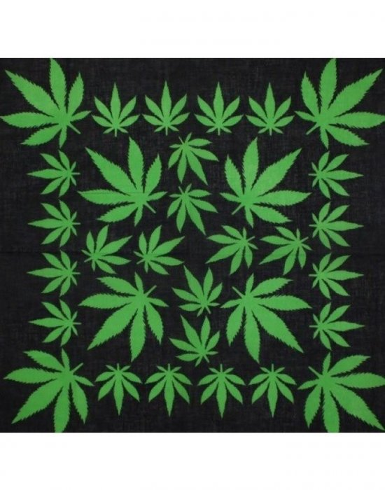 Бандана кърпа за глава Bandana марихуана - листото със седем лъча, Бандани кърпи - Bandana.bg