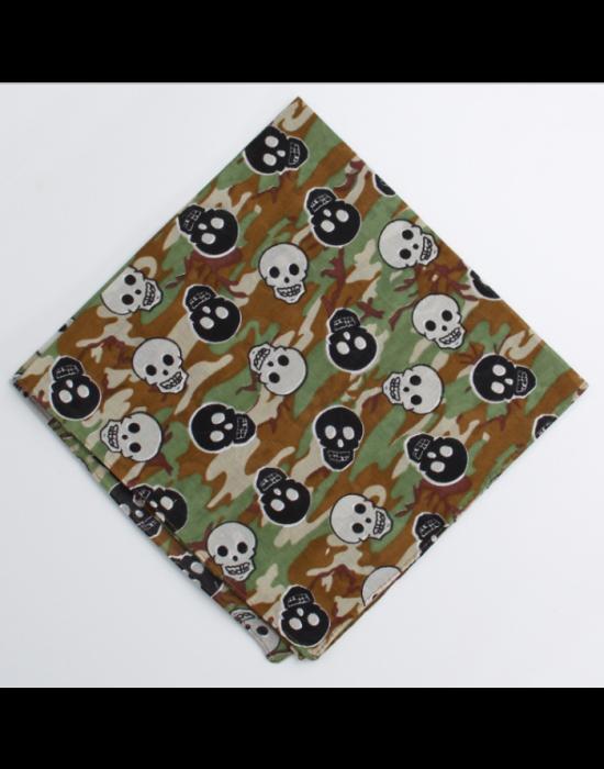 Бандана кърпа за глава Bandana в камуфлаж с черепи, Бандани кърпи - Bandana.bg