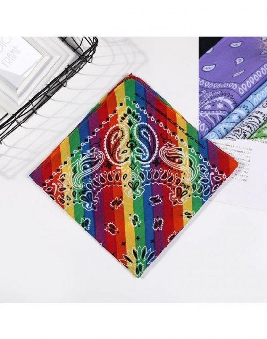 Бандана кърпа за глава Bandana многоцветна, Бандани кърпи - Bandana.bg
