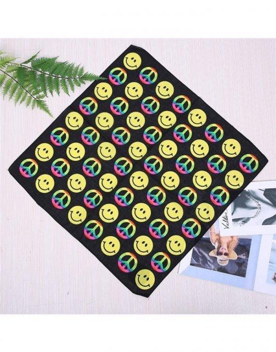 Бандана кърпа за глава Bandana емотикони Smile 2, Бандани кърпи - Bandana.bg