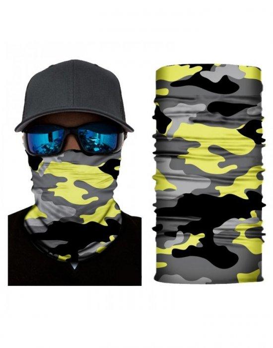 Бандана шал бъф в жълт камуфлаж HoodStyle Bandana Buff, Бандани шал - Bandana.bg