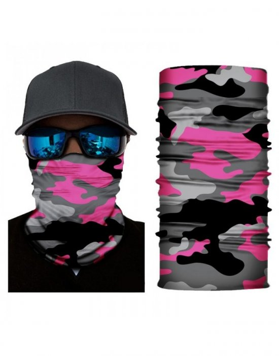 Бандана шал бъф в розов камуфлаж HoodStyle Bandana Buff, Бандани шал - Bandana.bg