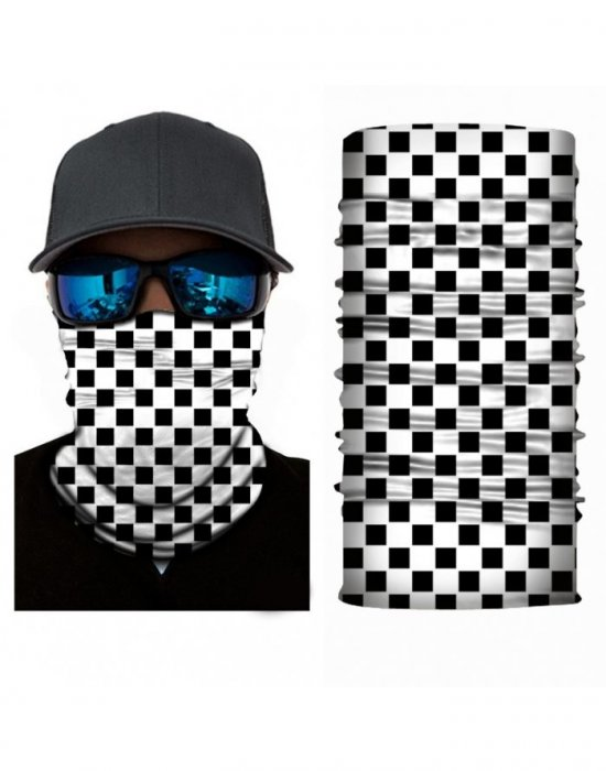 Бандана шал бъф шахматен дизайн HoodStyle Bandana Buff, Бандани шал - Bandana.bg