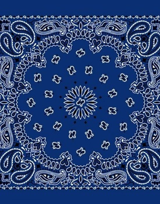 Бандана кърпа за глава New Bandana в кралско син цвят, Бандани кърпи - Bandana.bg