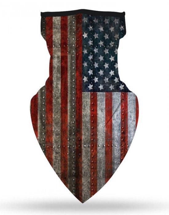 Бандана маска с уши нов дизайн USA, Бандани маски с уши - Bandana.bg