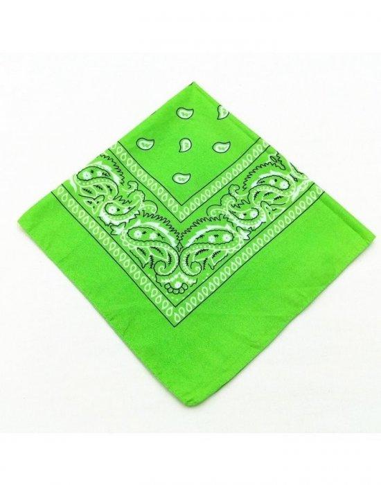 Бандана кърпа за глава Bandana в светлозелен цвят, Бандани кърпи - Bandana.bg
