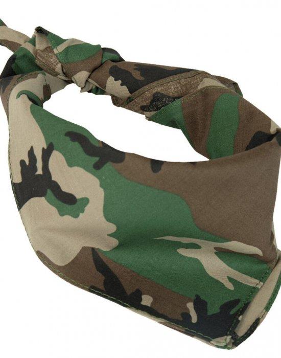 Бандана кърпа за глава Bandana в зелен камуфлажен цвят, Бандани кърпи - Bandana.bg