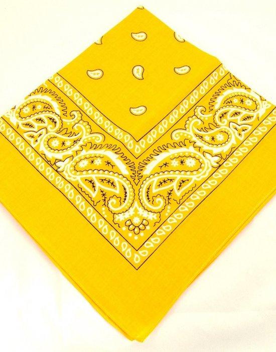 Бандана кърпа за глава Bandana в жълт цвят, Бандани кърпи - Bandana.bg